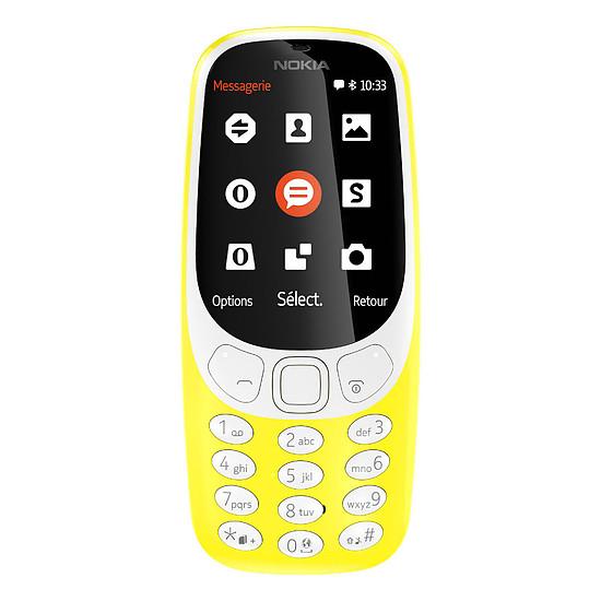 Smartphone et téléphone mobile Nokia 3310 - Double SIM (jaune)