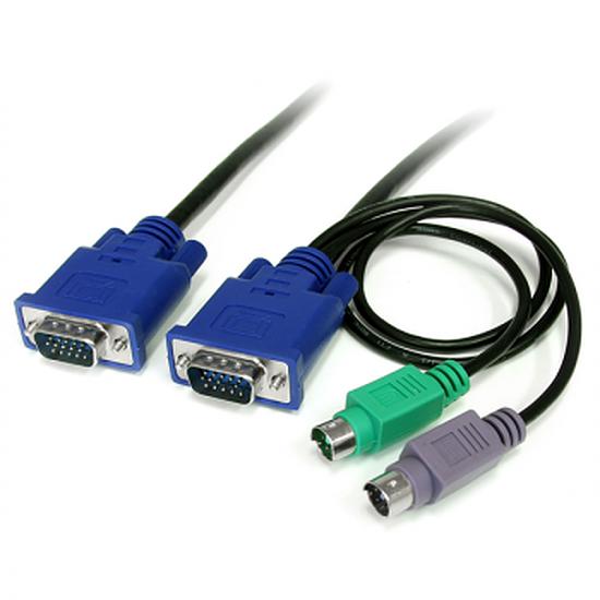 KVM StarTech.com Câble pour Switch KVM VGA avec PS/2 3 en 1 - 1.80m