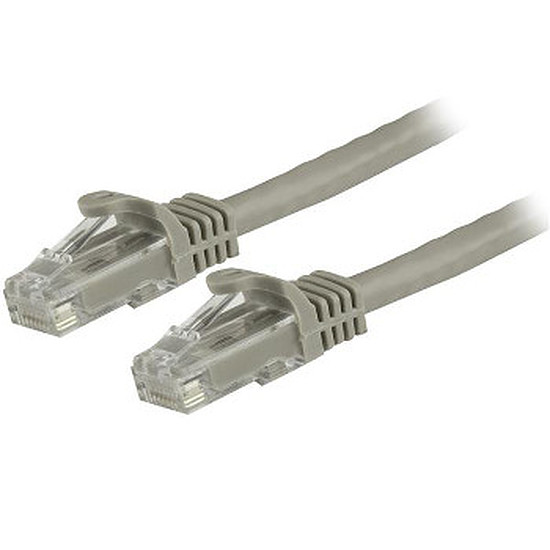 Câble RJ45 StarTech.com Câble Ethernet RJ45 Cat 6 UTP Gris - Snagless 10 m