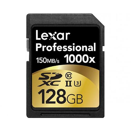Carte mémoire Lexar Professional SDXC 128 Go 1000x (150Mo/s)