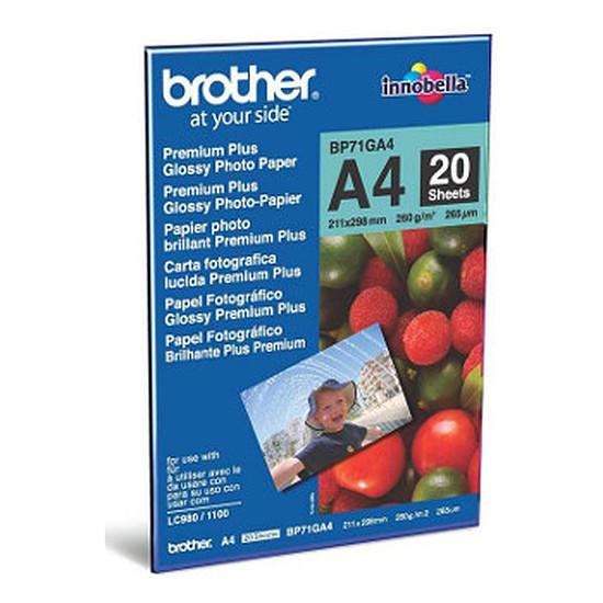 Papier imprimante Brother Papier photo brillant A4 (20 feuilles)