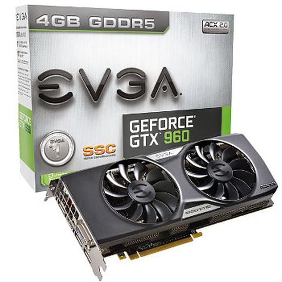 Carte graphique EVGA GeForce GTX 960 SSC Gaming ACX 2.0 - 4 Go