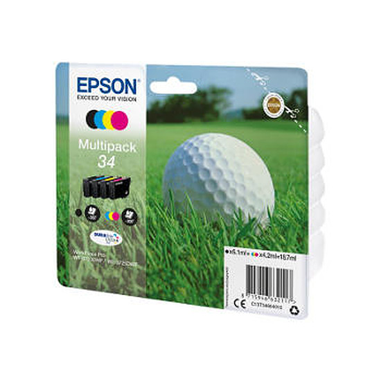Cartouche imprimante Epson Multipack 34 - Balle de golf - 4 couleurs
