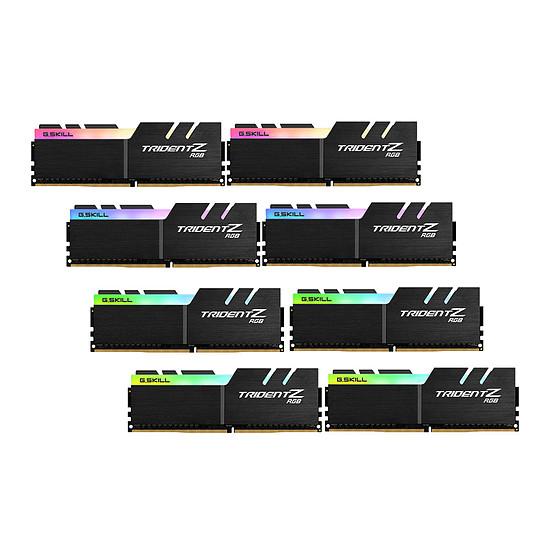 Mémoire G.Skill Trident Z RGB DDR4 8 x 8 Go 3200 MHz CAS 16