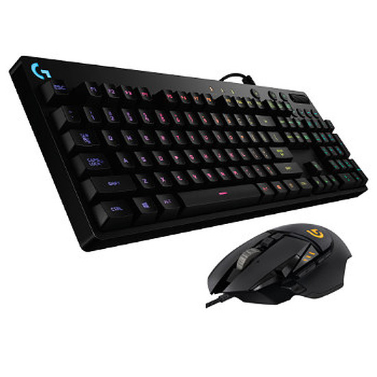 Pack clavier-souris Gaming Logitech G810 + G502