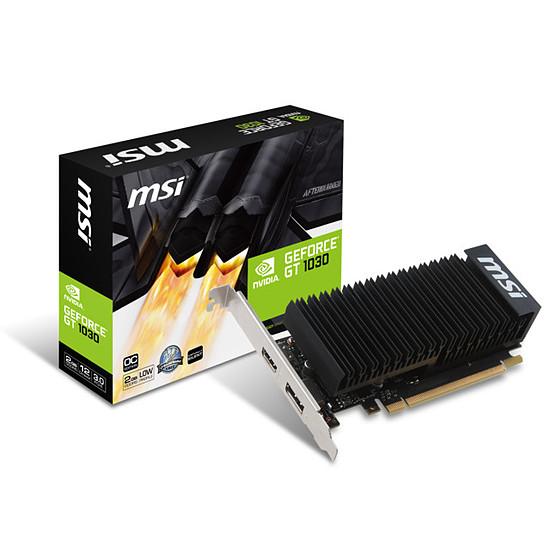 Carte graphique MSI GeForce GT 1030 LP OC - 2 Go