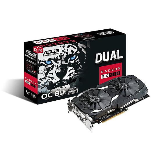 Carte graphique Asus Radeon RX 580 Dual Series OC Edition - 8 Go