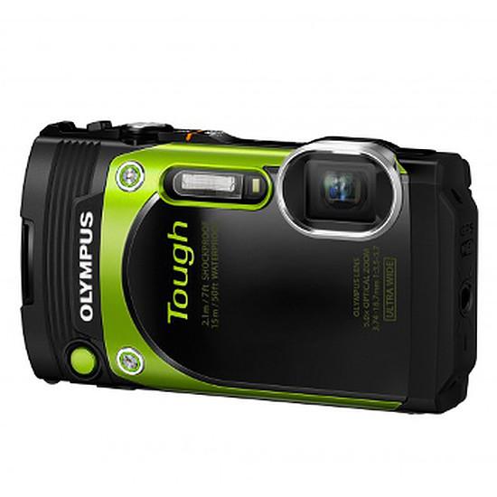 Appareil photo compact ou bridge Olympus TG-870 Vert + Etui + carte SD 8 Go