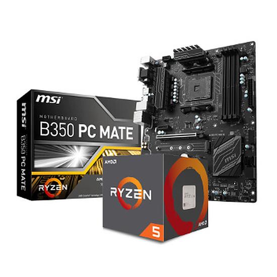 Processeur AMD RYZEN 5 1500X WRAITH SPIRE + MSI B350 PC MATE