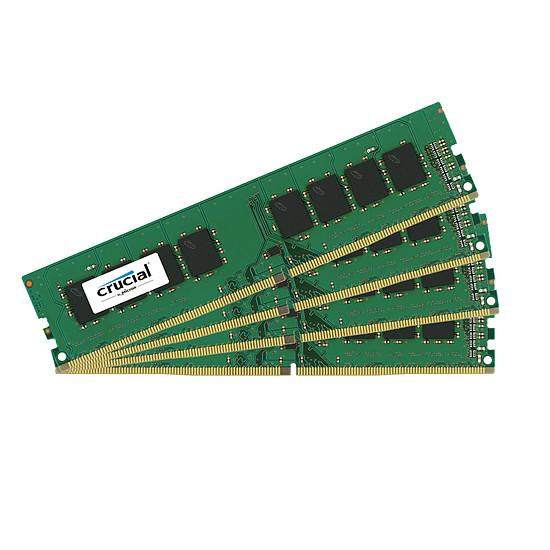 Mémoire Crucial 64 Go (4 x 16 Go) DDR4 2666 MHz CL19 DR