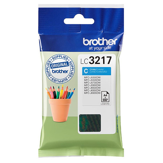 Cartouche d'encre Brother LC3217C Cyan