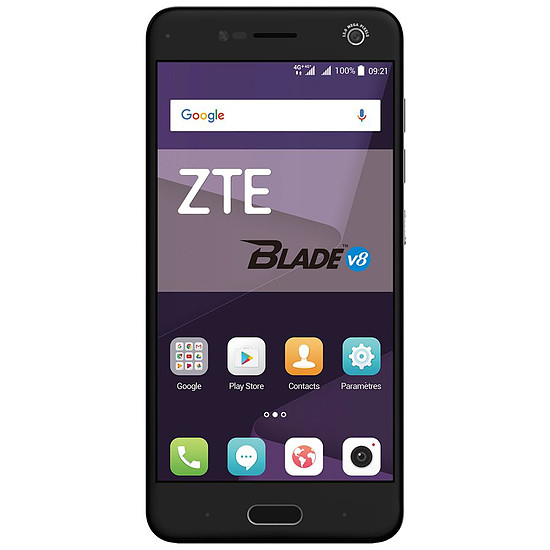 Smartphone et téléphone mobile ZTE Blade V8 (gris)