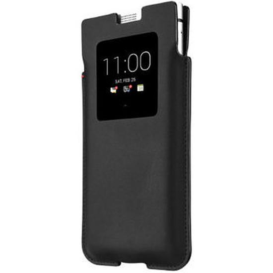 Coque et housse BlackBerry Etui smart pocket cuir (noir) - BlackBerry KEYone