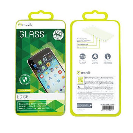 Protection d'écran Muvit Film en verre trempé - LG G6