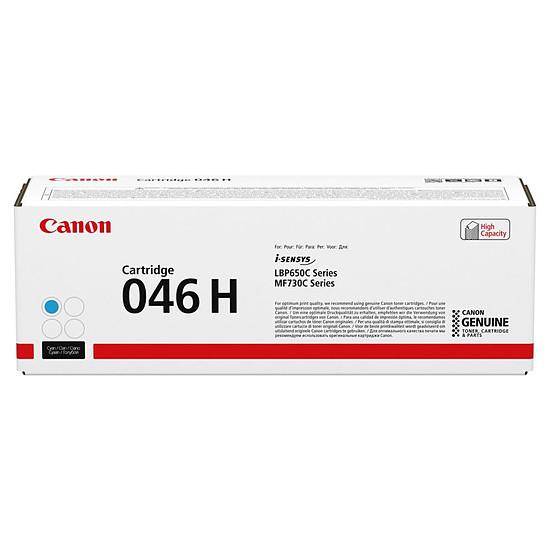 Toner imprimante Canon 046H CY (Cyan) - Haute capacité