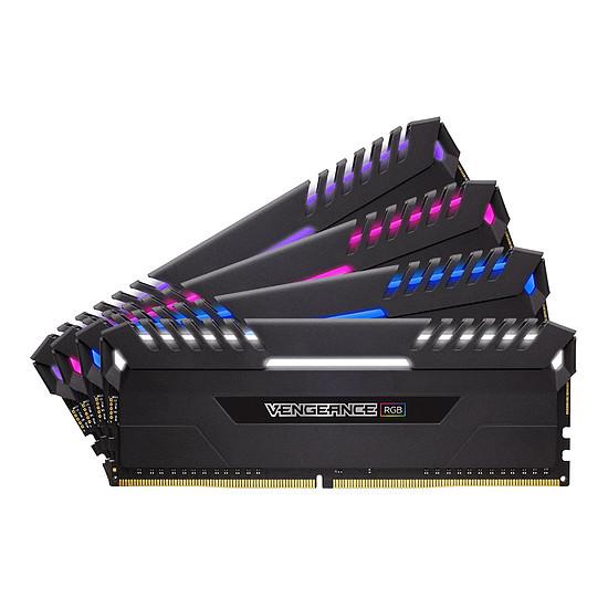 Mémoire Corsair Vengeance RGB DDR4 4 x 16 Go 2666 MHz CAS 16
