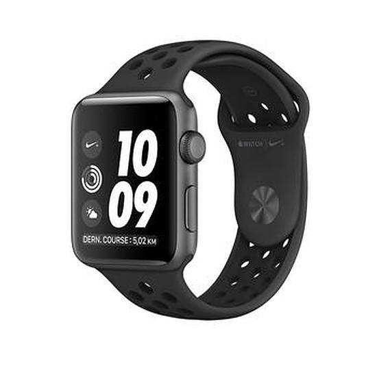 Montre connectée Apple Watch 2 Nike+ aluminium 38 mm gris sidéral