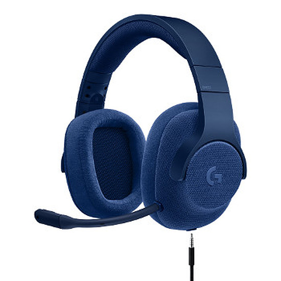Casque micro Logitech G433 - Bleu