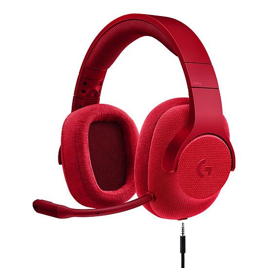 Casque micro Logitech G433 - Rouge - Autre vue