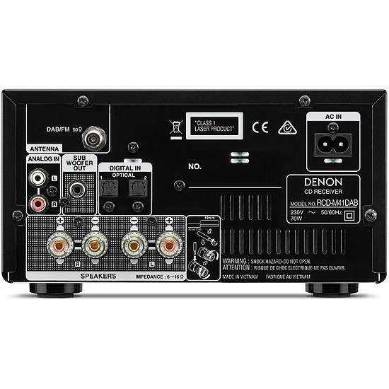 Mini-chaine Denon D-M41 DAB Noir - Autre vue
