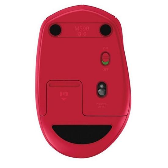 Souris PC Logitech M590 - Rouge - Autre vue