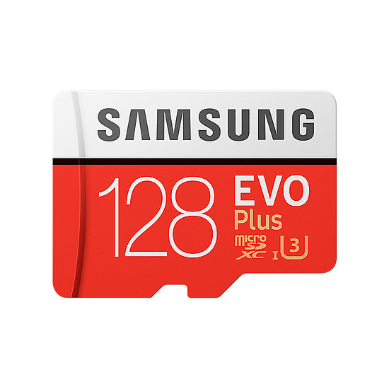 Carte mémoire Samsung Evo Plus SDXC 128 Go (100Mo/s) + adaptateur SD - Autre vue