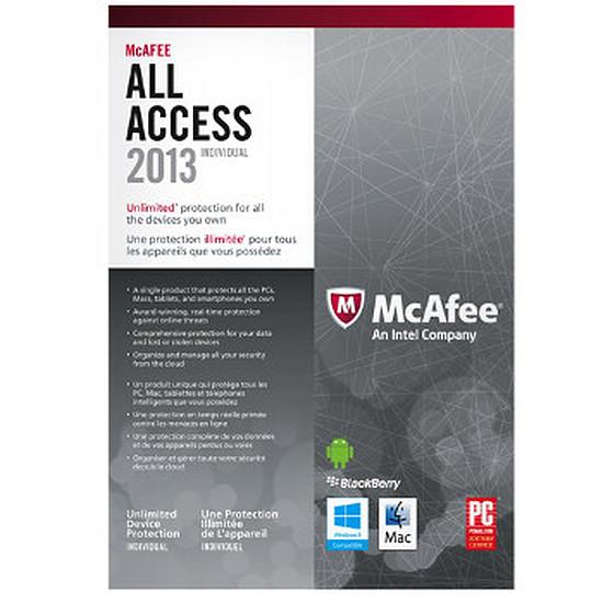Antivirus et sécurité McAfee All Access 2013 - OEM (carte d'activation)