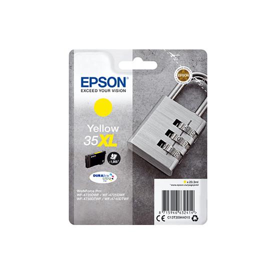 Cartouche imprimante Epson Jaune 35XL haute capacité