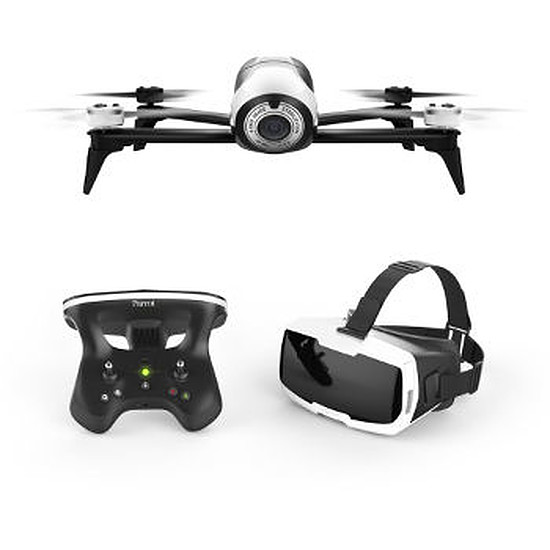 Drone Parrot Bebop 2 blanc FPV + Sac à dos pour Bebop 2 FPV