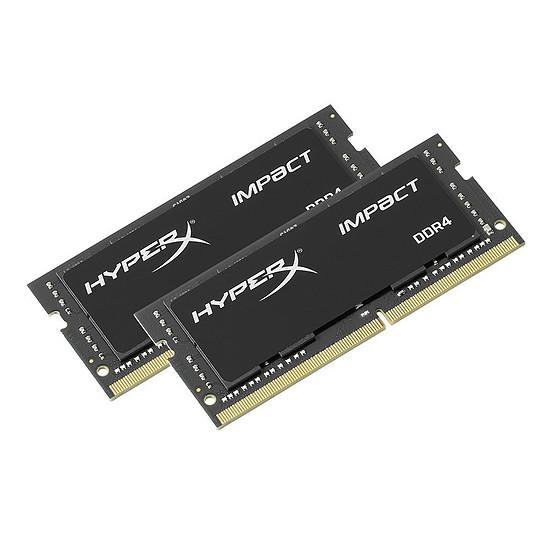 Mémoire HyperX 32 Go (2 x 16 Go) DDR4 2666 MHz CL15 Impact SO-DIMM
