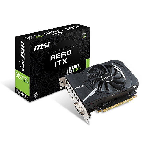 Carte graphique MSI GeForce GTX 1050 Ti Aero ITX OC V1 - 4 Go