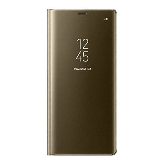 Coque et housse Samsung Clear View Cover (or) - Samsung Galaxy Note 8