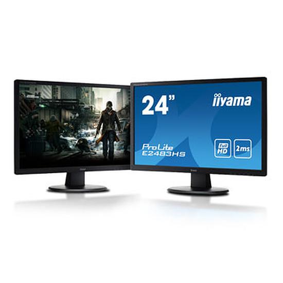 "Écran PC Iiyama E2483HS-B1 x2 - 24"""