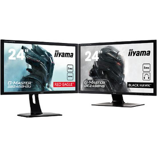 """Écran PC Iiyama GB2488HSU-B2 + GE2488HS-B2 - 24"""""""