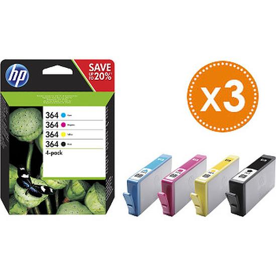 Cartouche imprimante HP Combo Pack n°364 (N9J73AE) x 3 - Cartouche d'encre - Autre vue