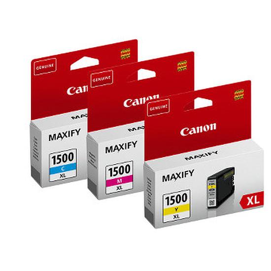 Cartouche imprimante Canon Pack 3 couleurs PGI-1500XL (C/M/J)