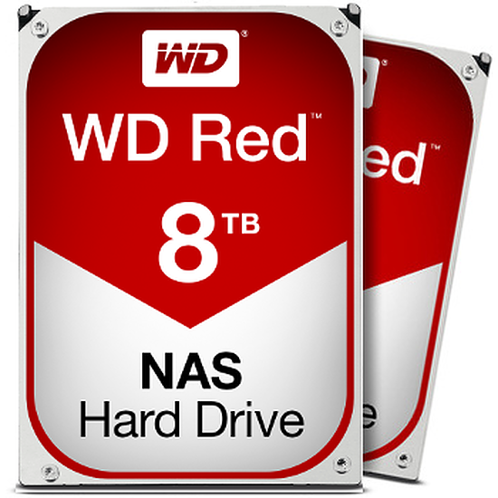 Disque dur interne Western Digital (WD) Red - 8 To (Pack de 2)