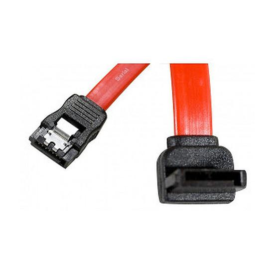 Serial ATA  Lot 3x câbles SATA coudé haut + verrouillage 50cm