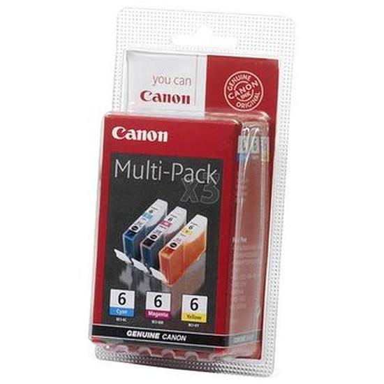 Cartouche imprimante Canon Pack de 3 MultiPack BCI-6 C/M/Y