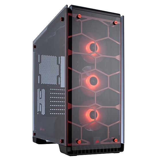 Boîtier PC Corsair Crystal 570X RGB - Rouge