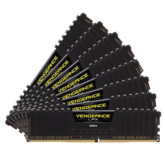 Mémoire Corsair Vengeance LPX Black - 8 x 16 Go (128 Go) - DDR4 2933 MHz - CL16