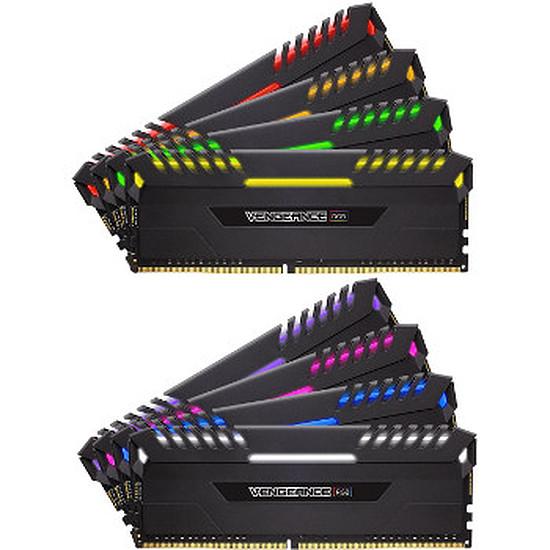 Mémoire Corsair Vengeance RGB DDR4 8 x 16 Go 3000 MHz CAS 16