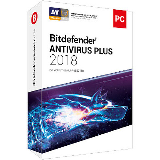 Antivirus et sécurité Bitdefender Antivirus Plus 2018 (2 ans 3 postes)