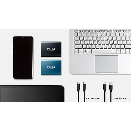 Disque dur externe Samsung SSD externe T5 - 500 Go - Autre vue