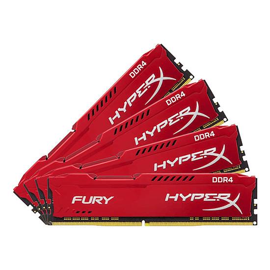 Mémoire HyperX Fury Red DDR4 4 x 8 Go 2666 MHz CAS 16