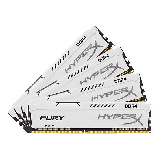 Mémoire HyperX Fury White DDR4 4 x 16 Go 2666 MHz CAS 16