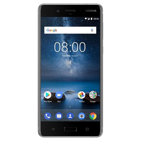 Smartphone et téléphone mobile Nokia 8 (TA-1012) (acier)