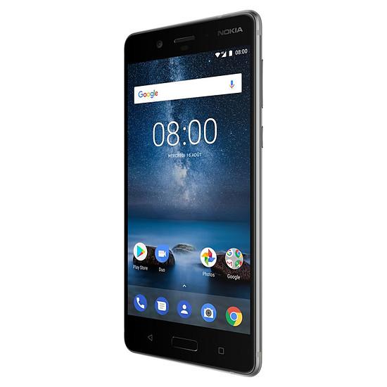 Smartphone et téléphone mobile Nokia 8 (TA-1012) (acier) - Autre vue
