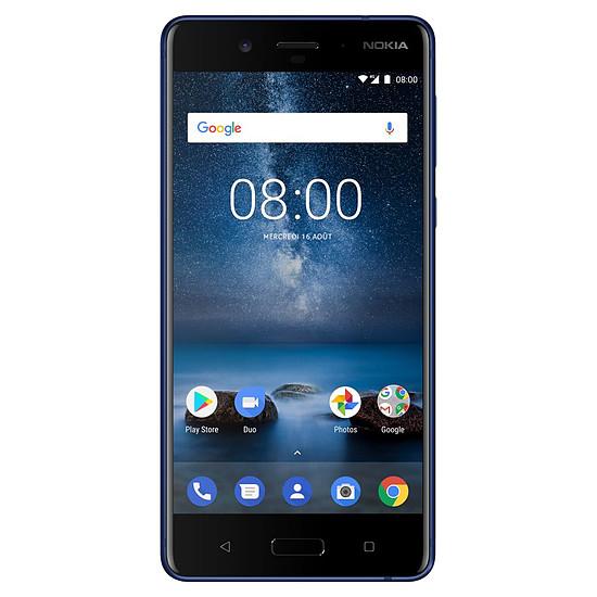 Smartphone et téléphone mobile Nokia 8 (TA-1012) (bleu trempé)