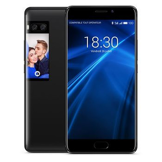 Smartphone et téléphone mobile Meizu Pro 7 Plus (noir) - 64 Go